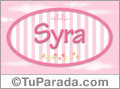 Nombre Nombre Syra de bebé, para imprimir