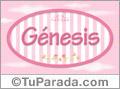 Nombre Nombre Génesis de bebé, para imprimir