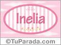 Nombre Nombre Inelia de bebé, para imprimir