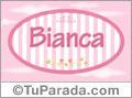 Nombre Nombre Bianca de bebé, para imprimir