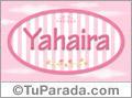 Nombre Nombre Yahaira de bebé, para imprimir
