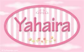 Yahaira, nombre de bebé de niña