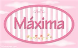 Máxima, nombre de bebé de niña