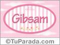 Gibsam, nombre de bebé de niña
