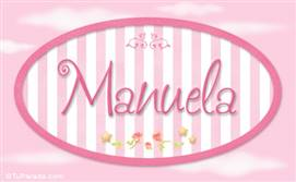 Manuela, nombre de bebé de niña