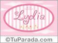 Nombre Nombre Lydia de bebé, para imprimir