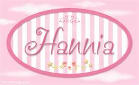 Hannia, nombre de bebé de niña