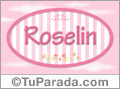 Roselin, nombre de bebé de niña