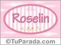 Nombre Nombre Roselin de bebé, para imprimir