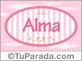 Alma, nombre de bebé de niña