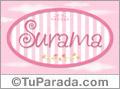 Nombre Nombre Surama de bebé, para imprimir