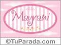 Nombre Nombre Mayrani de bebé, para imprimir
