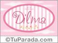 Nombre Nombre Dilma de bebé, para imprimir