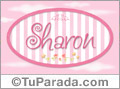 Nombre Nombre Sharon de bebé, para imprimir