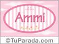 Nombre Nombre Ammi de bebé, para imprimir