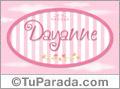 Nombre Nombre Dayanne de bebé, para imprimir