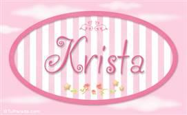 Krista, nombre de bebé de niña