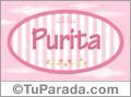 Nombre Nombre Purita de bebé, para imprimir