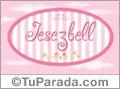 Nombre Nombre Jesezbell de bebé, para imprimir