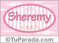 Nombre Nombre Sheremy de bebé, para imprimir