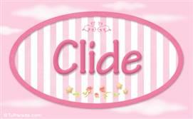 Clide, nombre de bebé de niña
