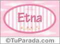 Nombre Nombre Etna de bebé, para imprimir