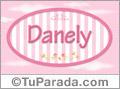Nombre Nombre Danely de bebé, para imprimir