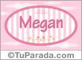Nombre Nombre Megan de bebé, para imprimir