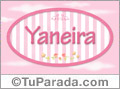 Nombre Nombre Yaneira de bebé, para imprimir