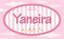 Yaneira, nombre de bebé de niña