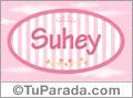 Nombre Nombre Suhey de bebé, para imprimir
