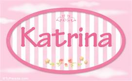 Katrina, nombre de bebé de niña