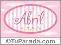 Abril, nombre de bebé de niña