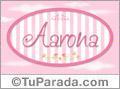 Aarona, nombre de bebé de niña