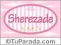 Sherezade, nombre de bebé de niña