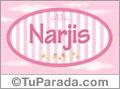 Nombre Nombre Narjis de bebé, para imprimir