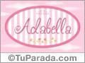 Nombre Nombre Adabella de bebé, para imprimir