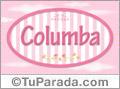 Columba, nombre de bebé de niña