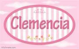 Clemencia, nombre de bebé de niña
