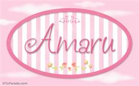 Amaru, nombre de bebé de niña