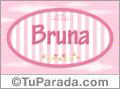 Bruna, nombre de bebé de niña