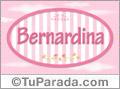 Nombre Nombre Bernardina de bebé, para imprimir