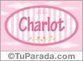 Nombre Nombre Charlot de bebé, para imprimir