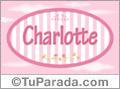 Nombre Nombre Charlotte de bebé, para imprimir