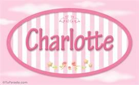 Charlotte, nombre de bebé de niña