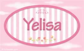 Yelisa, nombre de bebé de niña