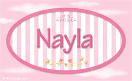 Nayla, nombre de bebé de niña