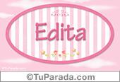 Edita, nombre de bebé de niña
