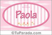 Paola, nombre de bebé de niña