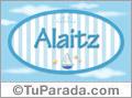 Alaitz, nombre de bebé, nombre de niño